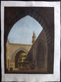 Description de l'Egypte C1820 HCol Print. Mosquee de Soultan Hasan. Cairo Egypt